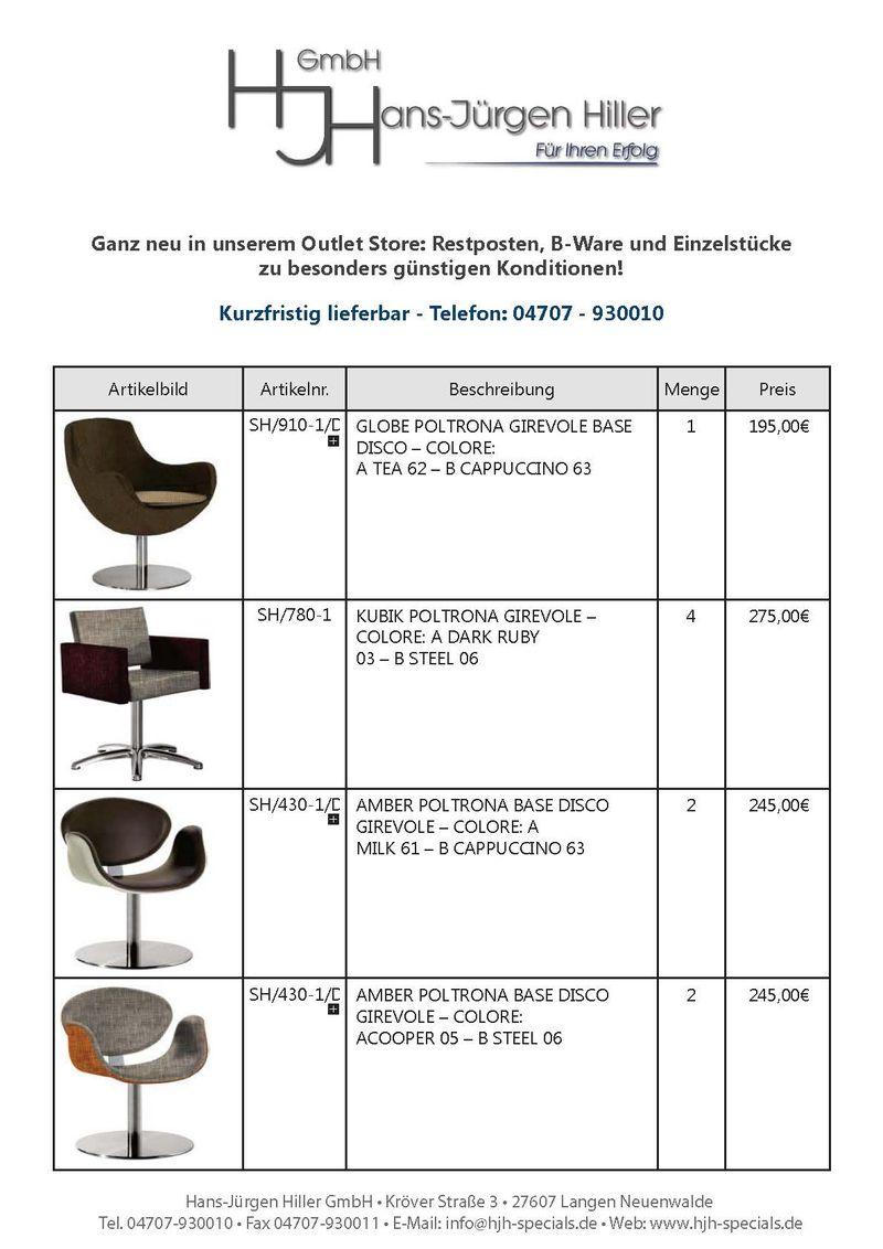 Sonderposten Stühle - Nur kurz verfügbar